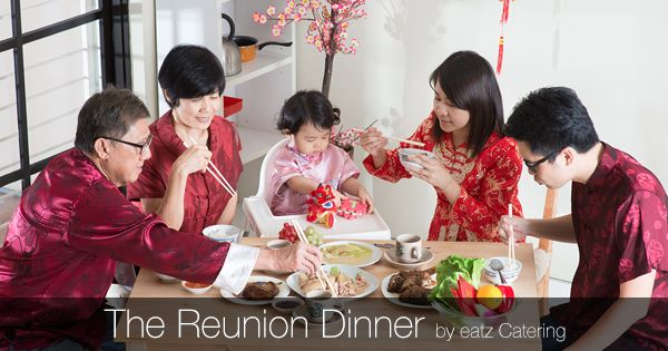 Celebrating with the Chinese New Year Reunion Dinner