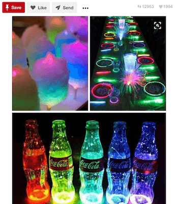 Pinterest Party Catering Ideas Glow In The Dark