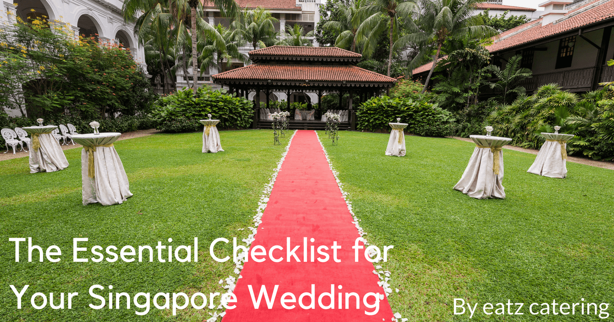 The Essential Checklist for Your Singapore Wedding