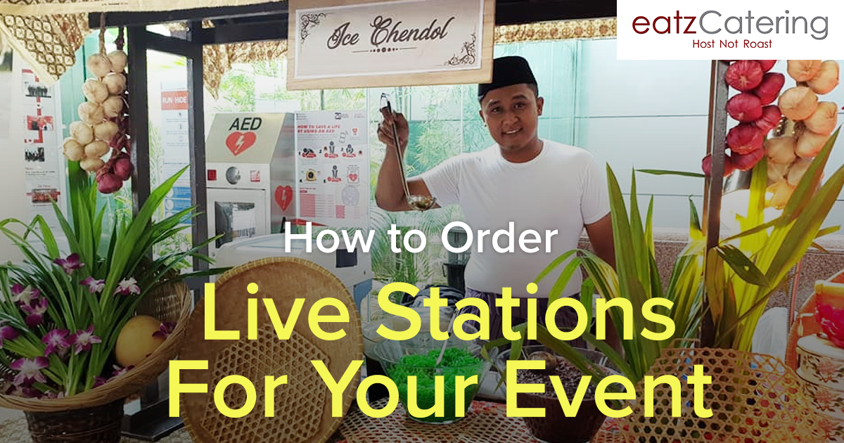 How to order catered live stations