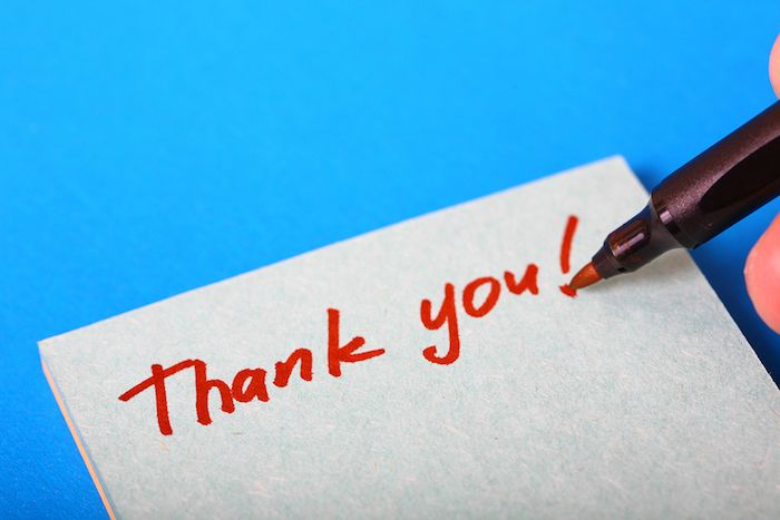 7 Ways to Thank Your Favourite Caterer - 1 - Thank you note