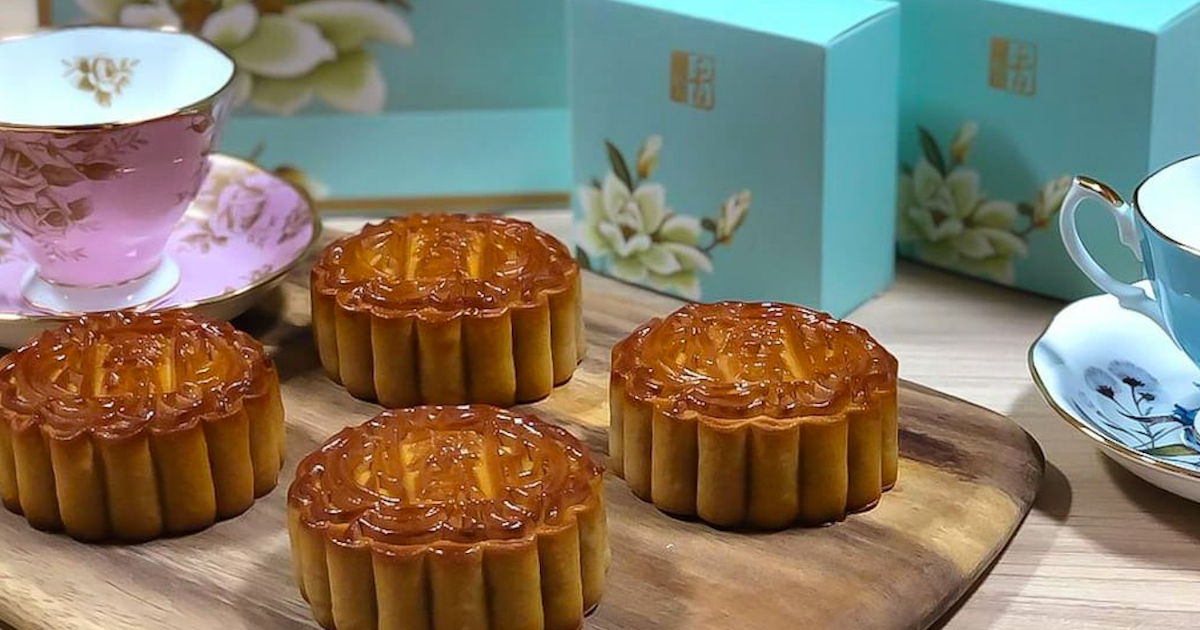 Mid-Autumn Mooncakes with a Heart from Eatz Catering